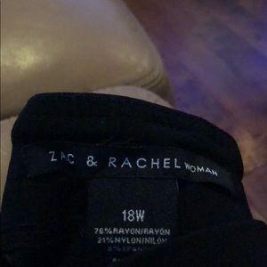 Zac & Rachel Plus Black Cropped Slacks